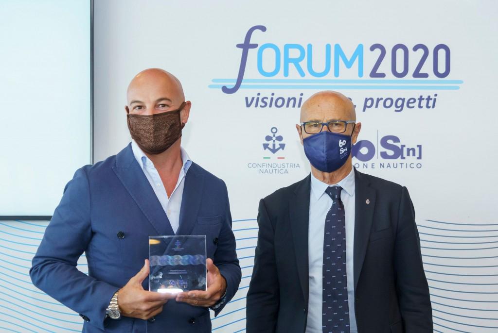Premiazione Christian Grande - Salone Nautico di Genova
